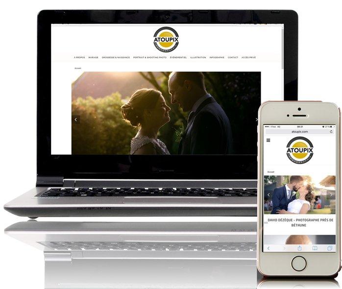 Atoupix, site mobile créé par KREATIC