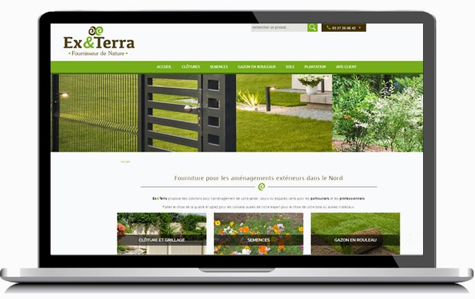Ex&Terra, site catalogue créé par KREATIC