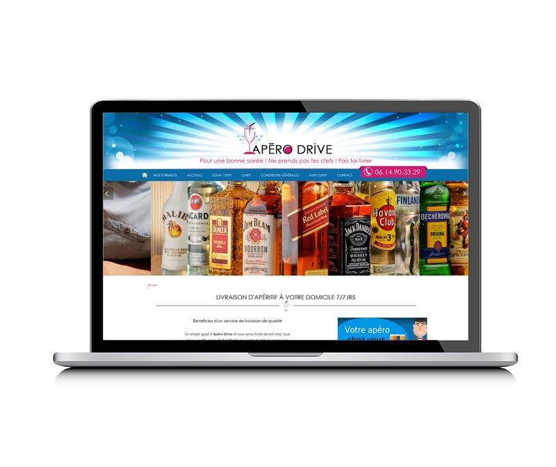 Apéro Drive, site créé par KREATIC