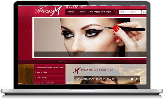 Fanny M, site créé par KREATIC