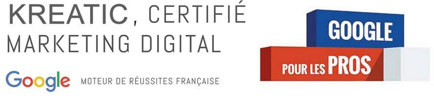 KREATIC, agence partenaire certiffiée par Google