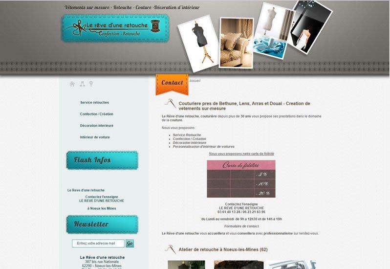 Rêve d'une retouche site réalisé par KREATIC