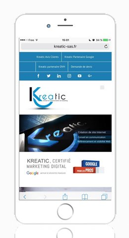 Site mobile par KREATIC